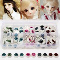 Wholesale 100pcs box mm Doll Eyeballs Half Round Acrylic Eyes for DIY Doll Bear Crafts Mix Color Plastic Doll EyeBall Doll Toy Parts