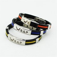 absolute logo - KPOP Fan B A P Best Absolute Perfect BAP Team Logo Sport Silicone Titanium steel Friendship Wristband Bracelets Y2745