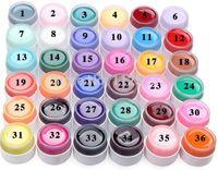 Wholesale D11 sales Hot SALE Popular Pure Colors Gel Nail Polish UV Nail Art DIY Decoration for Nail Manicure soak off