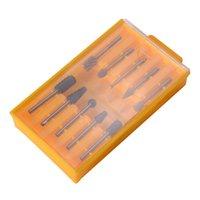Wholesale 10pcs mm Shank Carbide Burr Rotary Cutter Files Wood Working Tool Set BI448