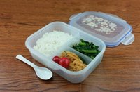 bento cups - Fashion High Capacity Dinnerware Sets PP Bento Lunch Box Food Container Handle Singel Layer Lunch Box TableWare High Quality