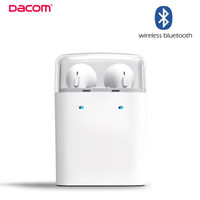 Wholesale Original Dacom MINI True Wireless Bluetooth Earphone TWS For iPhone s Smartphone airpods Double Twins Bluetooth Headphone with Retail Box