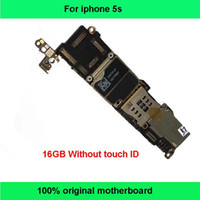 Wholesale 100 Good Working Original Factory Logic Board Without Fingerprint GB Motherboard For Iphone S Unlocked Mainboard IOS System