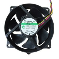 Wholesale New SUNON KDE1209PTVX cm mm Maglev Round CPU Case Cooler Cooling Fan V W W Pin PWM