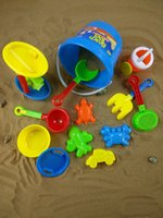 Wholesale Beach barrels play water children s toys sets of beach sets sand trap shovel rake