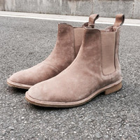 Wholesale Style Leather Mens Boot - Wholesale-2016 NEW style kanye west Top quality 5 color euro 37-46 slp designer men shoes luxury brand Chelsea mens boots shoes