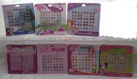 Wholesale Sheets pairs sheet Cartoon Fashion Cartoon Mix Style Princess Girl Stick On Earrings Ears Stick