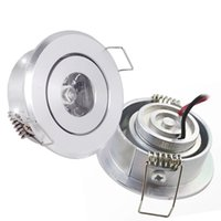 Wholesale Polished led watt Recessed downlight high power mini spotlight mm hole cut celling lamp AC85 V DC12V K K K white silver