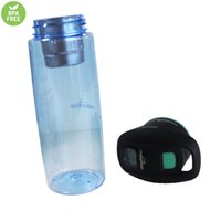 best water bottle with filter - Best Business Gift UV Purifier Sport Water Bottle with Activated Carbon Filter SOS Messenger PCTG Tritan Plastic