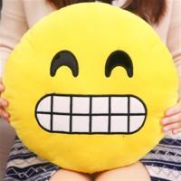 Wholesale Emoji back cushion sofa cushion short pile velour toy doll QQ expression pillow