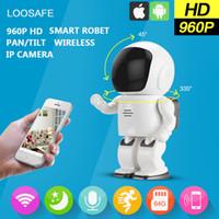 Wholesale LOOSAFE P HD Wireless Hidden Robot Camera Baby Monitor WIFI Night Vision Pan Tilt Home Security IP Camera