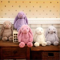 Wholesale Children Bunny Plush Rabbit Toys Kids Creative Bunny Soft Toys Dolls Animals Long Ears Easter Decoration Hold Pillow Toys Gifts cm F391