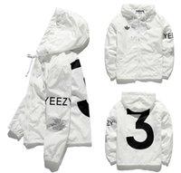 Wholesale YEEZY3 Jacket Men KANYE Hip Hop Windbreaker YEEZUS TOUR Jackets Men Women Streetwear Fashion Hip Hop Outerwear uniform coat