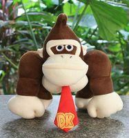 al por mayor rellenas de plátano juguete-Venta al por mayor- 9in Super Mairo Kid Toy Donkey Kong Plátano relleno Soft Peluche Muñeca Juguete Navidad Regalo Kawaii Niños Juguetes rellenos para niños Muñecas