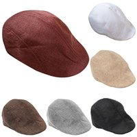 Wholesale Men Women Fashion Peaked Cap Flat Hat Beret Hats Cabbie Newsboy Country Golf Style
