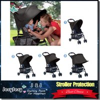 Black baby stroller rain cover - Sozzy Baby Stroller Rag Shade Blocks UV UVB Sun Rays Cover Baby Car Awning Rain Tent Multifunctional Stroller Protection