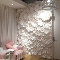 Wall Mounted background white paper - 50pcs set Large Simulation Cardboard Paper Mix styles Flowers Showcase Wedding Backdrop Background Activities Decoration Stage Props