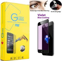 Wholesale For Iphone D Full Cover Tempered Glass Screen Protector For Iphone Plus S Plus Anti Blue Light Eyes Protect Glass Film Retail Package