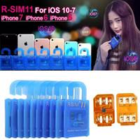 Wholesale RSIM11 Unlock For IOS10 ios9 ios7 x Rsim R sim11 Unlock Card for iphone plus s WCDMA GSM CDMA SPRINT G G rsim