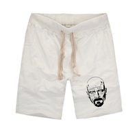 Men beach short breaks - new brand fashion Casual cotton Shorts Breaking Bad Heisenberg Printed Beach Shorts Men HipHop rock Camisetas shorts