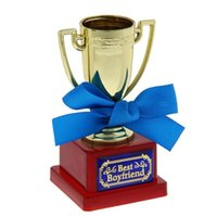 award cup - Mini award cup with ribbon and congratulatory text Best boyfriend unique gift x x cm
