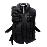 Wholesale Brand Tactical Vest D Oxford CS Airsoft Paintball Wargame Swat Police Outdoor Vests Hunting Protective Black Vest for Men