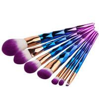 Nouveau kit de brosse professionnelle Vander 7pcs crème puissance pinceaux de maquillage professionnel Multipurpose Beauté cosmétique Puff Batch Kabuki Blusher