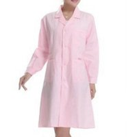 Wholesale Lstest Version Summer Nurse Uniform Clothes Pharmacy Overall Long Sleeve Superior Fabric Anti dust Four Size Pink Color Cotton