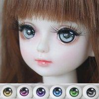 acrylic safety eyes - Safety Eyes BJD Doll Acrylic Eyeball Eyes Pair mm mm mm Half Round Eyeball For Doll Accessories Kids Toys