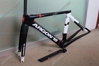 Wholesale Newest Argon18 T1000 black and white C Road bicycle UD carbon fibre bike frame fork seatpost headset XS S M L