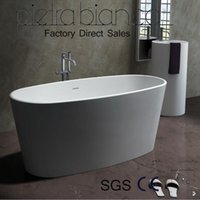 Wholesale Bathroom Furniture Solid Surface Stone Artificial Stone Man Made Stone Bathtub PB1004