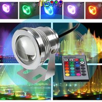 Wholesale 16 Colors W DC V RGB LED Underwater Fountain Light LM Swimming Pool Pond Tank Aquarium LED Light Lamp IP68 Waterproof