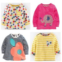 Wholesale kids western shirts cute t shirt for girls t shirt long sleeve designer little baby infant tops o neck tee mixed size