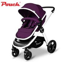 big prams - Luxury Baby Stroller High Landscape Strong Big Wheel Baby Car High Quality Folding Stroller Shockproof Prams