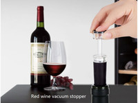 abs vacuum - red wine vacuum stopper vacuum sealing stoppeed red wine stopper ABS food grade silica gel inch heigth