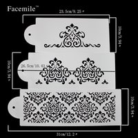 Wholesale cake biscuit stencil bakery tool fondant mold crown king princess queen Bakeware Baking Fondant Cake Stencil Template Mold