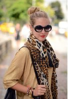Wholesale Scarves Korea - Wholesale ladies scarves tartan clothing accessories haut femme cotton shawl leopard korea fashion designer scarf van gagh foulard soie love