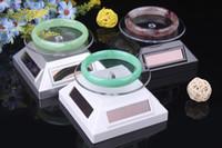 Wholesale Round solar energy turntable bracelet display shelf jewelry stand fashion jewelry automatic rotary bangle displays watch holder