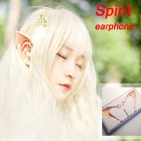 apple concepts - 2016 New ISMART Spirit666 In Ear spirit fairy Earphones for sport cosplay girl gift Animation live props concept cat headphones Elf Free DHL