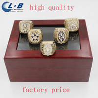 Wholesale Liaobao New High Quality Nice Fans Replica All Years Dallas Cowboy Super Bowl Football Championship Ring Set