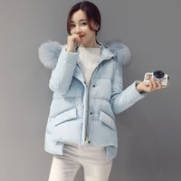 Wholesale new style winter Korean female clock student thicken down jacket with heavy hair coat tide A English word coat