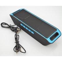 Wholesale Bluetooth Stereo Subwoofer Portable Wireless Speaker TF USB FM Radio Built in Mic Dual LoudSpeaker Bass Sound Speakers