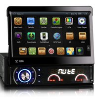 Wholesale 7 Inch Din Car DVD AutoRadio GPS Player Android Wifi With Motorized Retractable Monitor Removable Panel Anti theft Universal