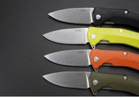 Bolas de rodamiento España-Italia Lionsteel KUR plegable sistema de rodamiento de bolas de camping cuchillo Sleipne hoja G10 manejar caza de supervivencia cuchillos con Clip F968L
