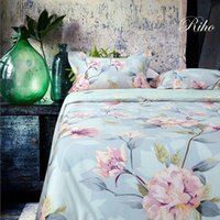 Wholesale Riho S Piece Cotton Rural Floral Rose Elegant Comfortable Bedding Sets Bedding Sheets Bed in a Bag Adina