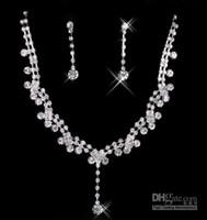 achat en gros de déclaration collier s-Nouveaux Styles Colonne Bijoux Collier Perles Sets Bridesmaids Bijoux Dame Femmes Prom Party Bijoux Boucles D'oreilles 15051