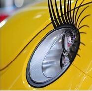automotive cooling - 2pcs pair New Brand Cool Fashion Auto D Eyelash Automotive Eyelashes Car Eye Lashes D Car Logo Sticker Decal Accessories