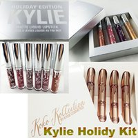 Wholesale Kylie Mini Matte Liquid Lipsticks Kit Koko Kollection Gloss Kylie Jenner Collection Cosmetics Set Edition Holiday Christmas Gift By DHL