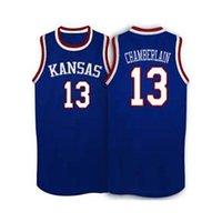 basketball wilt chamberlain - Wilt Chamberlain Jersey Kansas Jayhawks Wilt Chamberlain College Basketball Jersey White Blue Throwback Stitched Shirt Custom any Number