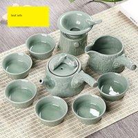 Wholesale high grade tea sets made in DE HUA CHINA
